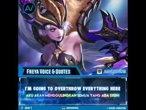 suara dan kutipan freya mobile legends