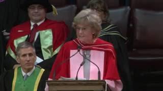 Linda M. Schuyler, Convocation 2016 Honorary Degree recipient