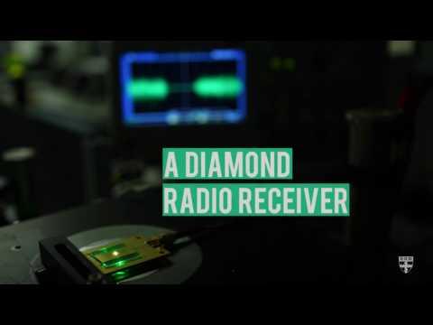A diamond radio receiver