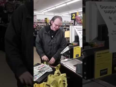 White boy can sang!!!!! Lucas Holliday, Dollar General employee, sings Maxwell's Ascension