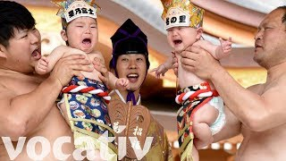 The Naki Sumo Baby Crying Contest Makes Babies Compete To Cry First