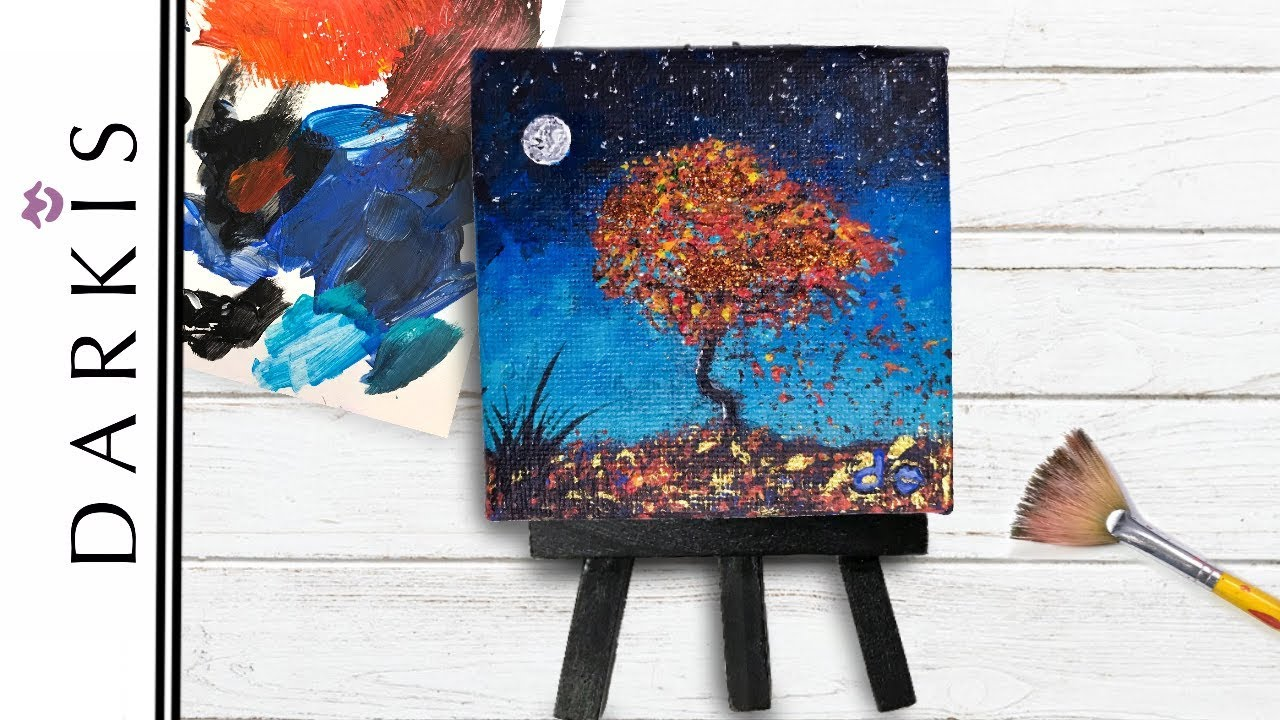 Tiny Canvas Painting Miniature Ideas Youtube