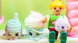 Playmobil & Shopkins | Wata cukrowa |  Bajki dla dzieci