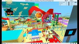 ROBLOX Theme Park Tycoon 2: Actualizado Incredicoaster Pixar Pier Disney Californnia Aventura POV 2018