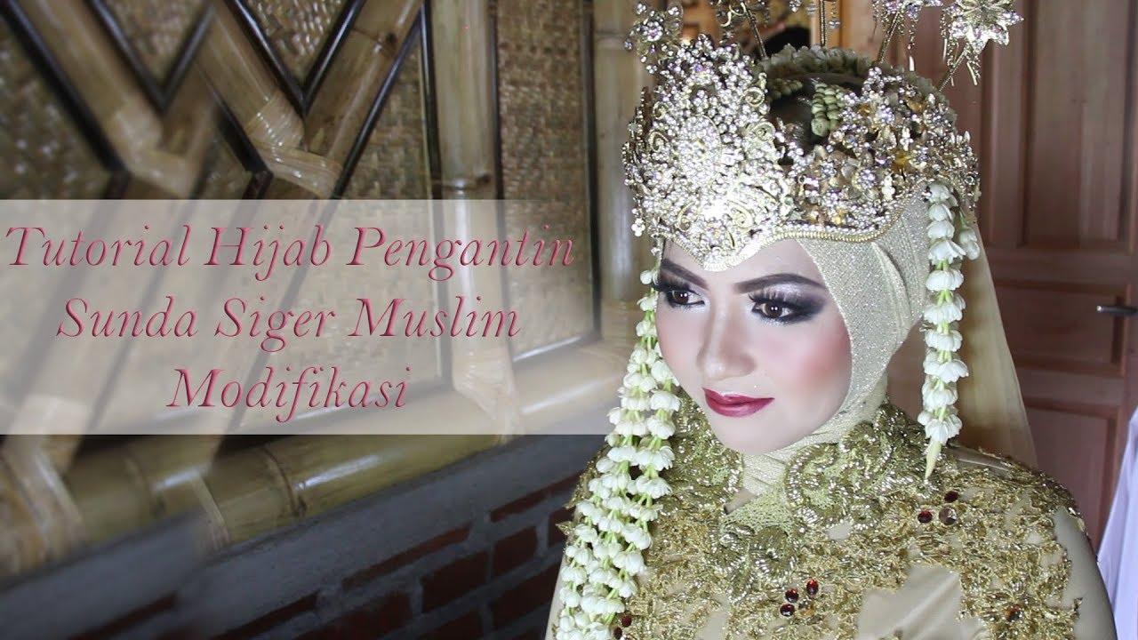 Tutorial Hijab Pengantin Sunda Siger Muslim Modifikasi Yenni Quinn