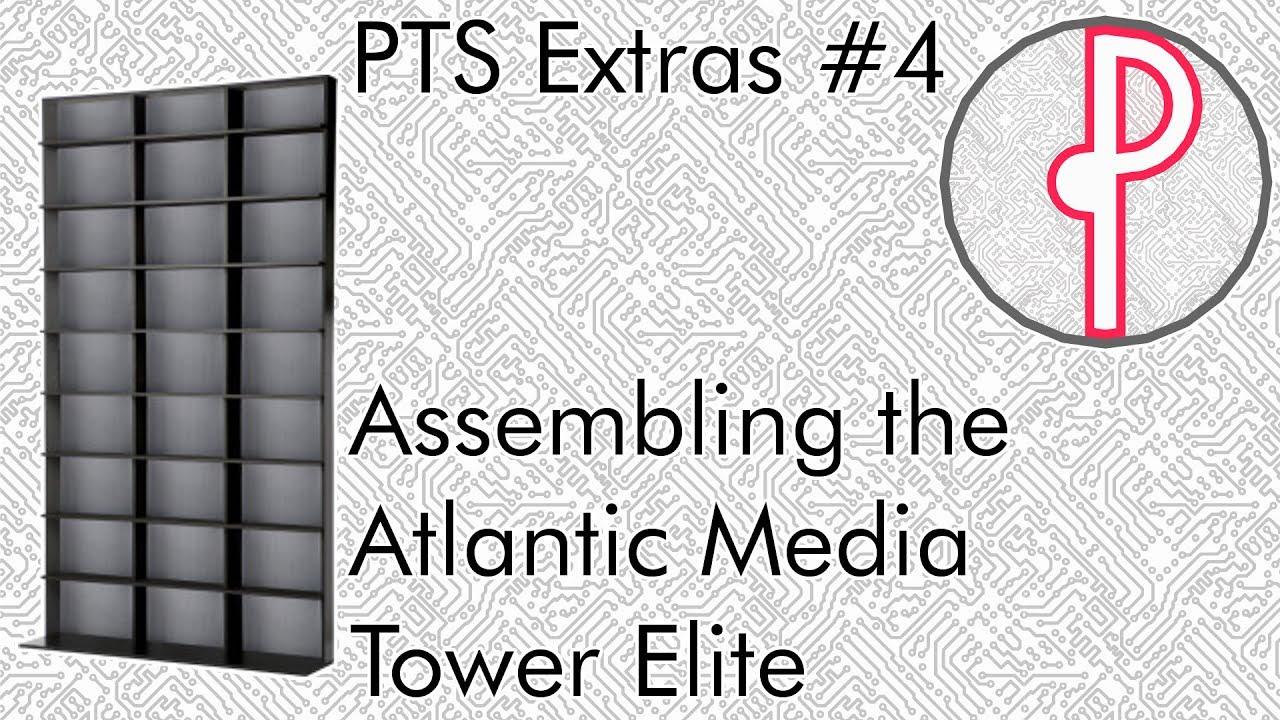 """Black Atlantic Inc 72/"""" Large Media Rack in Black Atlantic"""