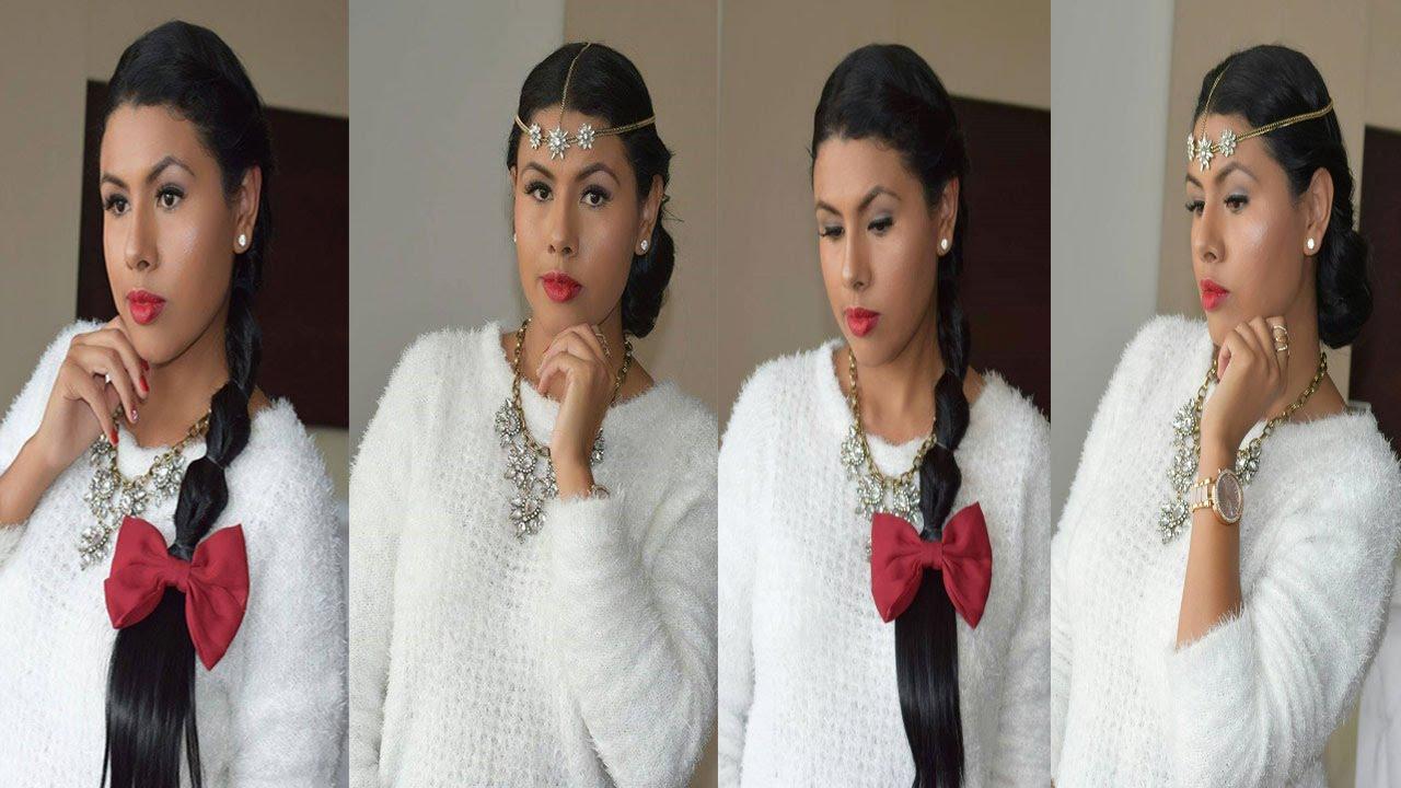 Peinados bonitos faciles y rapidos cabello largo youtube - Peinados faciles y bonitos ...