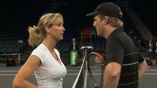 Jim Courier, Andre Agassi, and Lara Spencer  PUNK