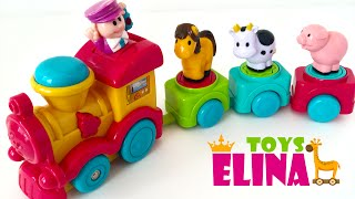 Learn Colors and Animal Names while Playing with Toy Train