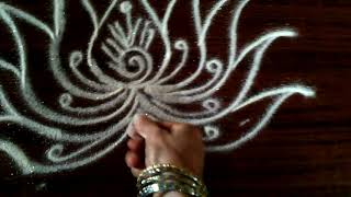 Rangoli--lotus