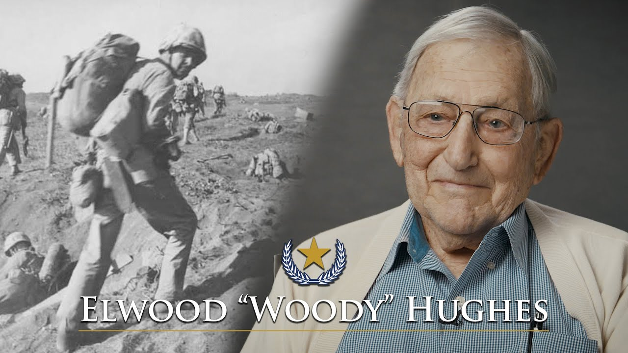 Iwo Jima Vet Elwood Hughes, 5th Marine Division, tells his story (Full Interview)