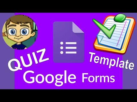 Google Forms Quiz Template for Teachers 2017 Tutorial