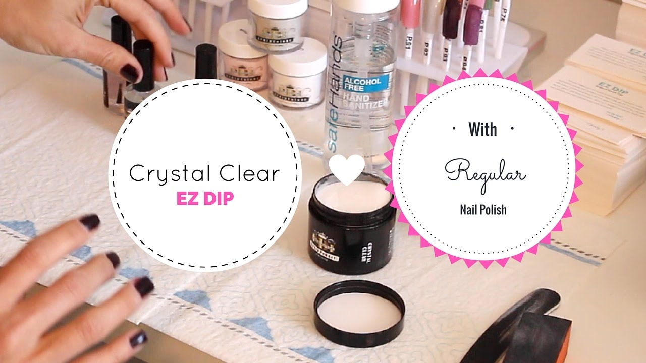 52 Weeks of Beauty - 2016 Week 2 - How to use EZ DIP Crystal Clear ...