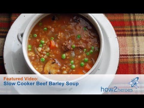 Slow Cooker Beef Barley Soup