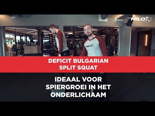Deficit Bulgarian Split Squat: Ideaal voor spiergroei in het onderlichaam en ideaal voor thuis!