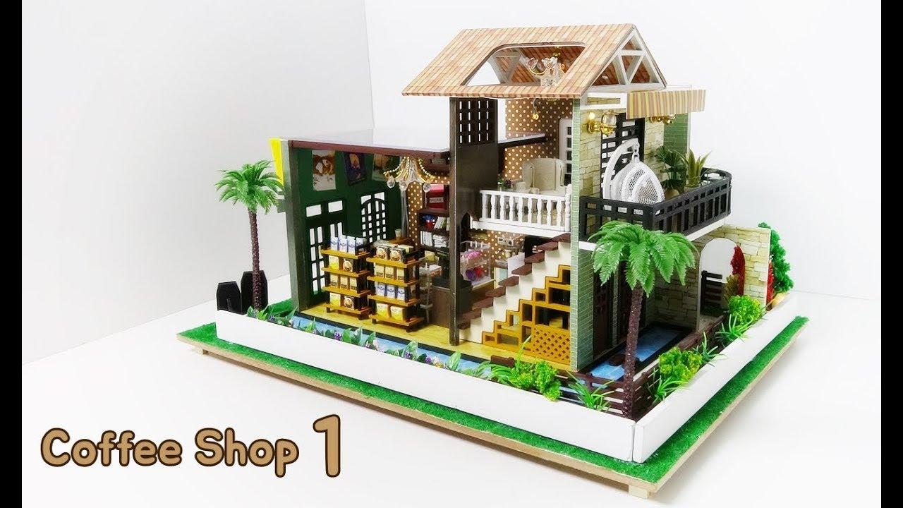 DIY Miniature House Kit * Coffee Shop * 커피숍 미니어처 하우스 * ミニチュアハウス * 1号咖啡馆