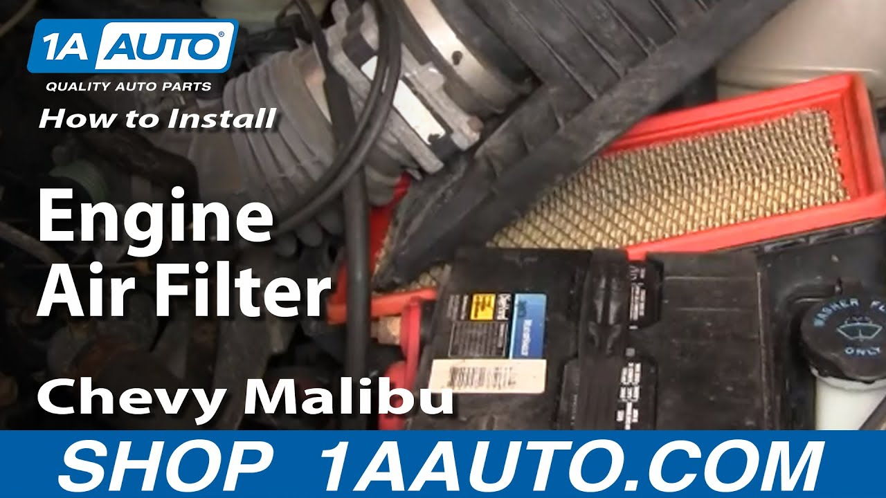 How To Install Replace Engine Air Filter Chevy Malibu 97