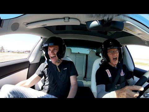 Professional Driver For Motor Trend; Randy Pobst Racing My Tesla Model 3