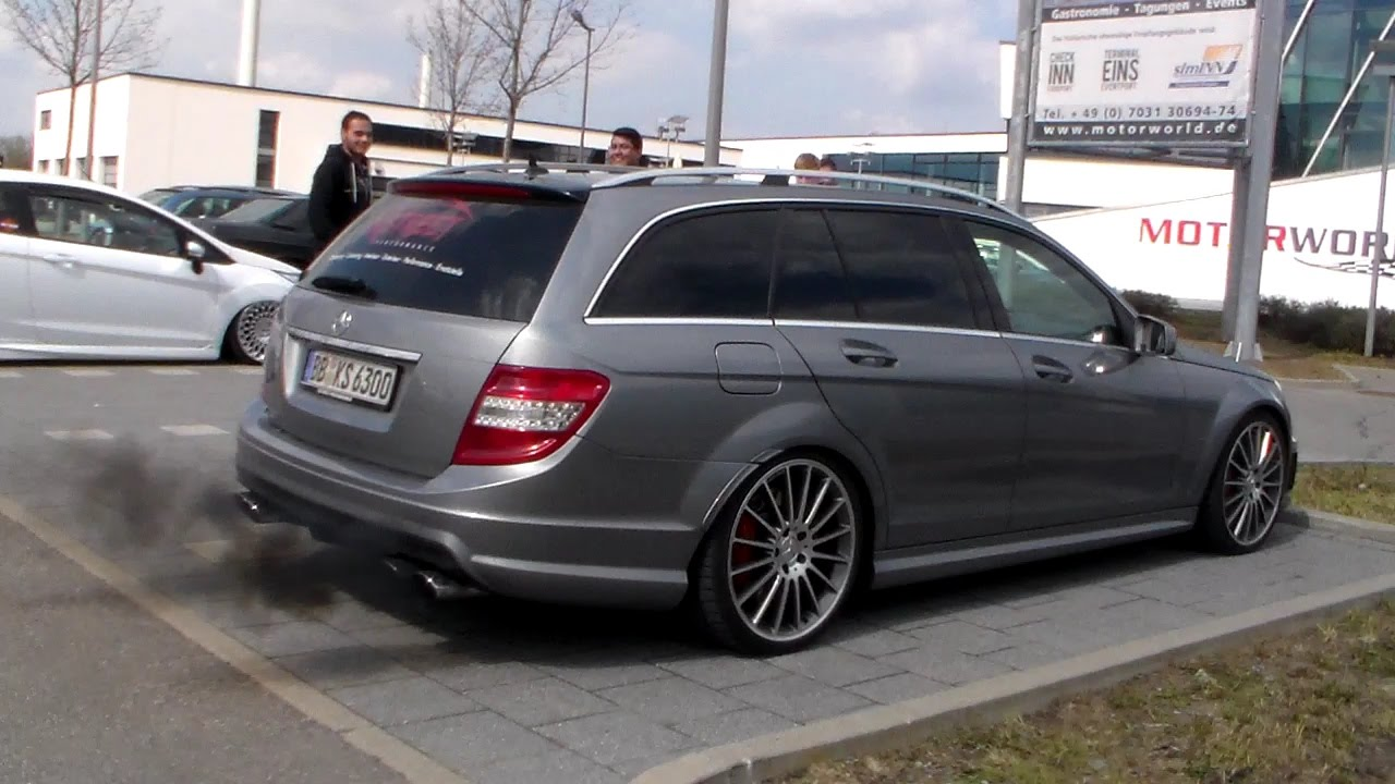 mercedes c63 amg t modell revs lovely sounds hd youtube. Black Bedroom Furniture Sets. Home Design Ideas