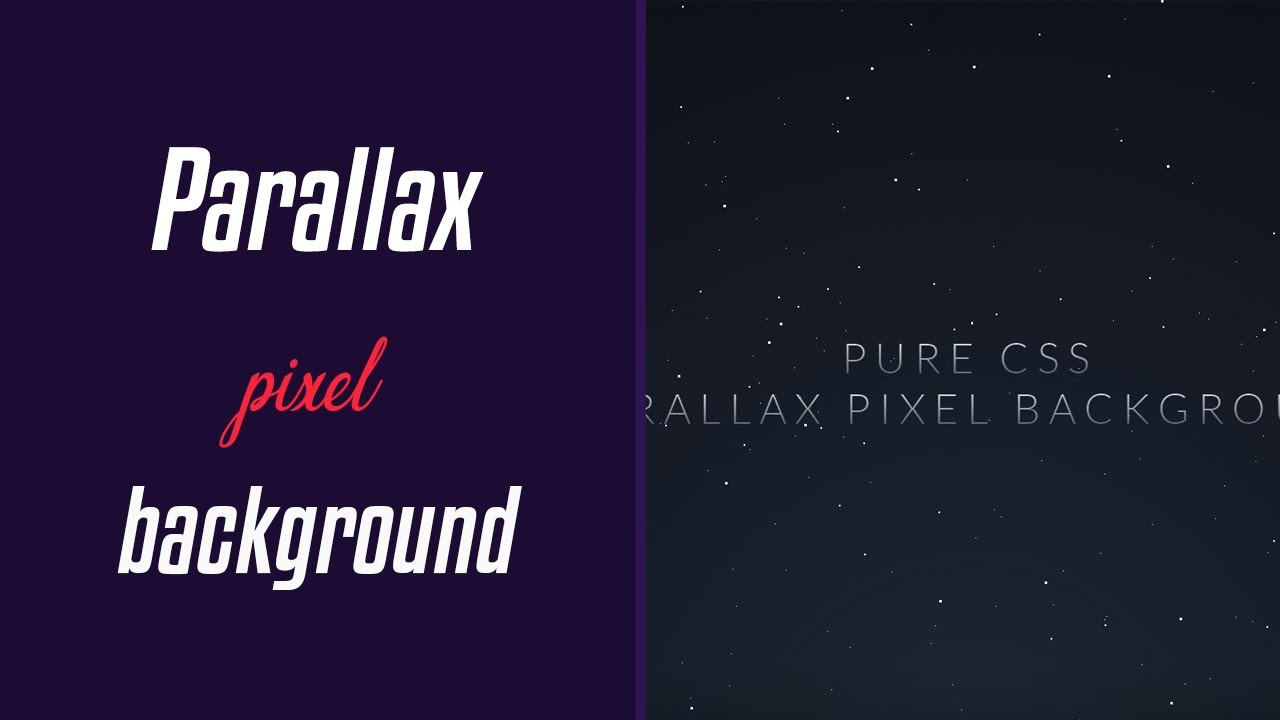 Parallax Pixel Background Animation | HTML & CSS