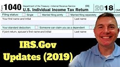 Updated 1040 from IRS.Gov (2019)