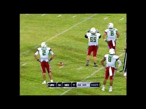 IFAF U19 World Championship KUWAIT 2014: Japan vs Mexico