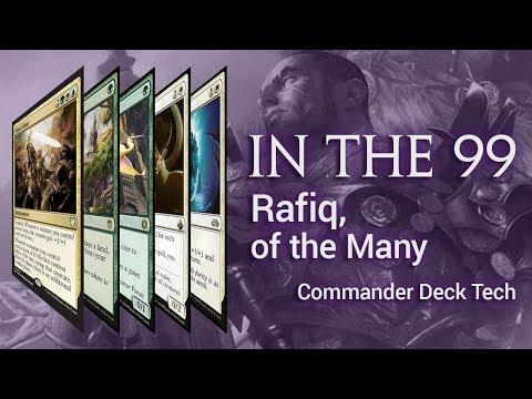 Rafiq of the Many Bant Enchantress Deck Tech - Commander 2018 Preview Card