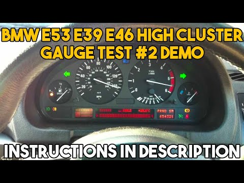 2002 Bmw X5 4 4 E53 Instrument Cluster Gauge Test 2 Youtube