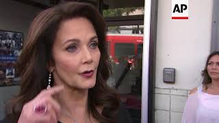 Lynda Carter encourages (hash)MeToo and gun protesters, reacts to Trump's military border patrolling