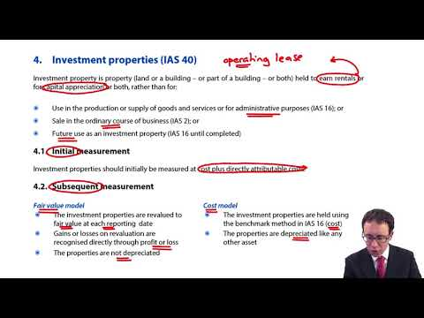 Investment property - ACCA Financial Reporting (FR)