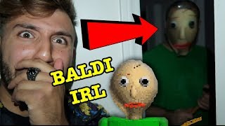 BALDI'S BASICS GAME IN REAL LIFE AT 3AM | DONT PLAY BALDI'S BASICS IN EDUCATION AT 3AM