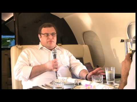 Premium private charter flights with WiFi and no expense spared - Geoffery Cassidy Zetta Jet at NBAA