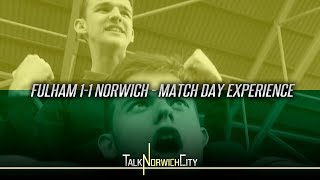 FULHAM 1-1 NORWICH - MATCH DAY EXPERIENCE