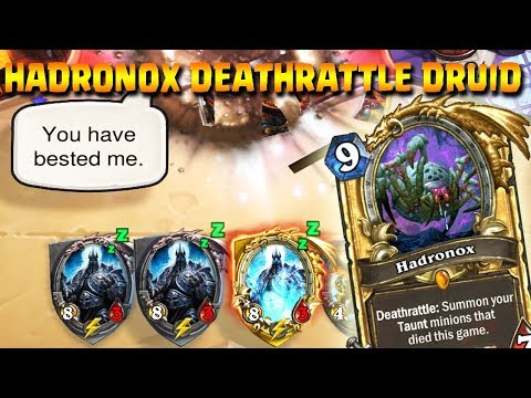 HADRONOX DEATHRATTLE DRUID, COSTOSO MA POTENTE!