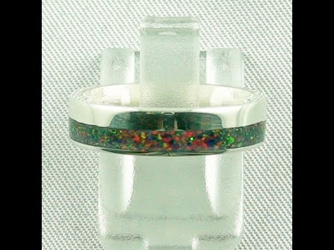 silberring-mit-opal-inlay-schwarze-flamme,-opalring-3,80-gr.-bandring