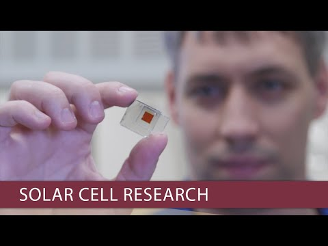 FSU researchers pushing the efficiency limits of solar cells
