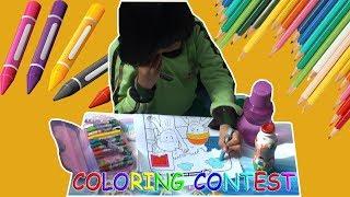Hari Kemerdekaan : Naomi Ikut Lomba Mewarnai | Funny Kids Coloring Contest | Oil Pastel Color
