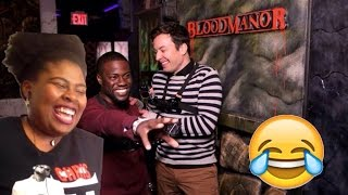 Jimmy and Kevin Hart Visit a Haunted House | Reaction