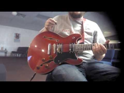 Harley Benton HB-35-CH Gibson ES-335 semi-hollowbody copy testing/demonstration