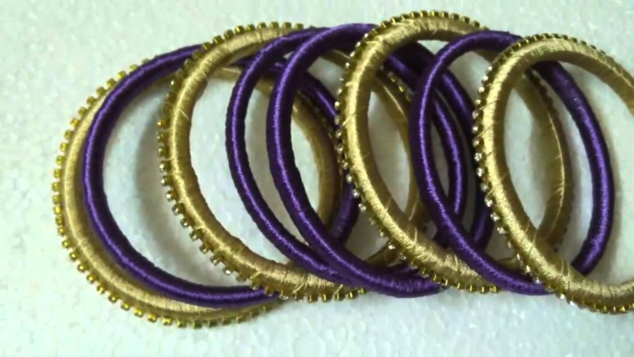Silk thread jewelry - YouTube