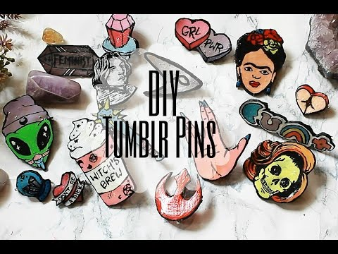 DIY Tumblr Pins