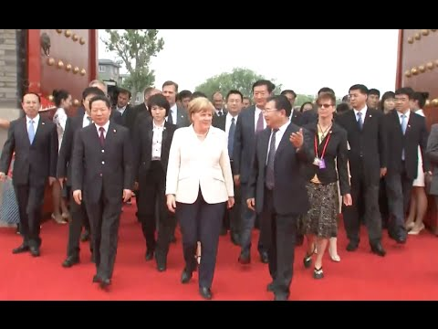 German Chancellor Visits northeast China Industrial City