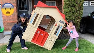 Sally Play Police Rescue Playhouse adventure