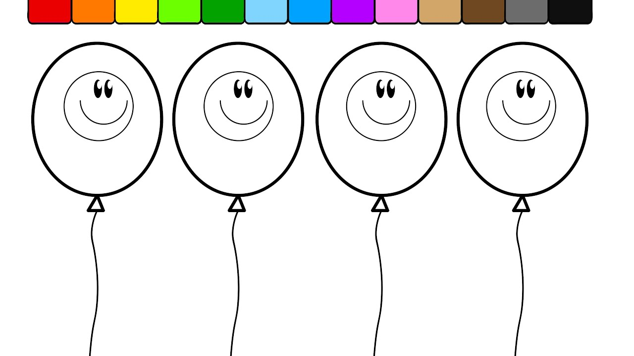 Learn Colors For Kids And Color This Fun Smiley Face