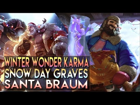 Snow Day Graves, Santa Braum, Winter Wonder Karma Skins Spotlight - League of Legends