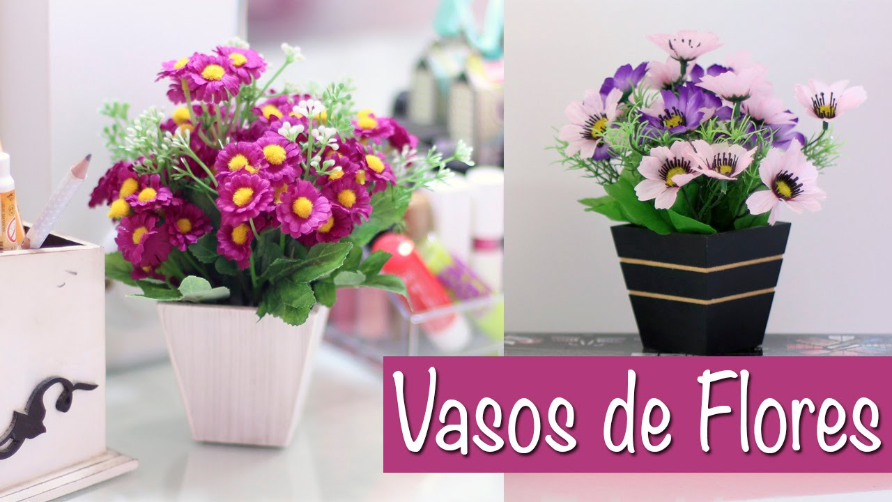 Diy vasos de flores para decorar sua casa youtube for Casas para decorar