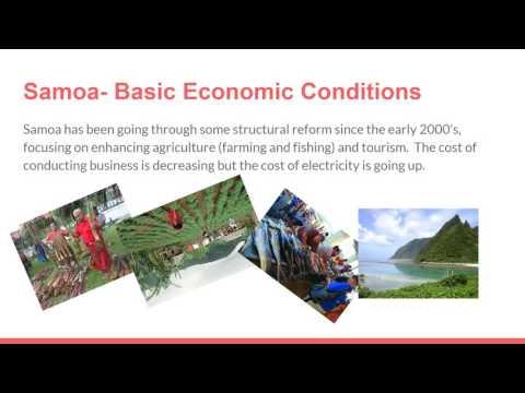 The Economy of Samoa  Presentation