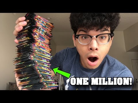 OPENING ONE MILLION POKEMON CARD BOOSTER PACKS OF TEAM UP! *insane pulls*