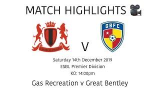MATCH HIGHLIGHTS 🎥  Gas Recreation 2-2 Great Bentley - ESBL Premier Division