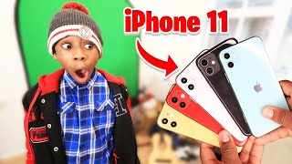 11 Year Old Kid WINS IPhone 11 Pro In Guess The iPhone Color, Keep It Challenge!